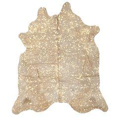 Gold Fleck Brazilian Cow Hide | 220x180cm by Luxe Metallics on POP.COM.AU