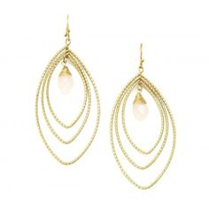 Etched Hoop Earring  - Gold