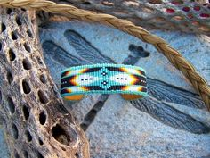 Native American Beaded Cherokee Pattern Bracelet With The Colors Of ...