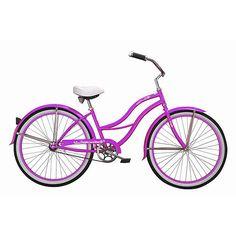 """26"""" Micargi Tahiti Women's Beach Cruiser Bike, Purple"""