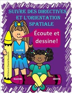 Ce produit va permettre aux élèves  de développer leur écoute active.  Ces activités peuvent être faites en grand groupe et sont propices à l'étude des termes associés à l'orientation spatiale.   Les élèves auront du plaisir à s'approprier du vocabulaire comme, en haut, en bas, sur, sous, en dessous, en dessus, entre, devant, gauche , droite, etc.  Il y a des fiches à illustrer et des fiches avec directives lues par l'enseignante. Ontario Curriculum, French Resources, French Teacher, French Immersion, French Lessons, Orient, Interactive Notebooks, Math Lessons, Teaching Resources