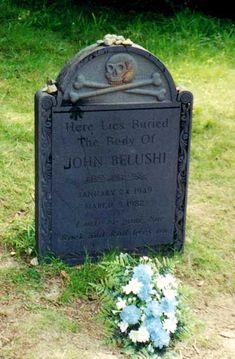 John A. Belushi (1949 - 1982)TV/Film Comic...Grave Location: Chilmark  Cemetery Chilmark  Mass.