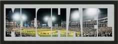 PERSONALIZE YOUR NAME with a framed large Chicago White Sox stadium panoramic behind your name, single matted in team colors to 39 x 13.5 inches.  $139.99 @ ArtandMore.com