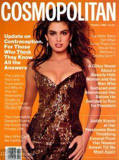 Cosmopolitan US Cindy Crawford, Francesco Scavullo, ph. Fashion Magazine Cover, Cool Magazine, Fashion Cover, Magazine Covers, Vogue Covers, Cindy Crawford, Naomi Campbell, Top Models, Madonna