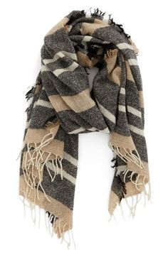 Madewell 'Simply' Stripe Wool Scarf available at #Nordstrom