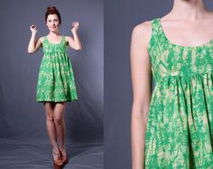 Vintage 60s Green Tie Dye Baby Doll Dress by TinyAcornVintage, $50.00