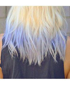 Pale blue dip dye