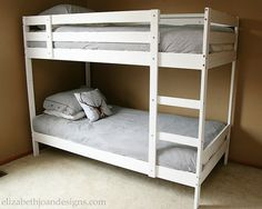 Painting the Bunk Bed White