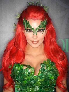 Kim Kardashian's Poison Ivy Makeup