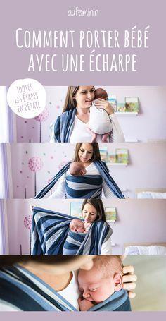 9 meilleures images du tableau Écharpe de portage   Baby sling wrap ... 34230ef7473