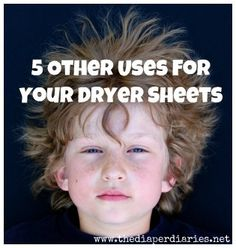 Alternative Uses for Dryer Sheets