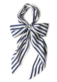 Bow to Stern Scarf in Navy Stripes, #ModCloth