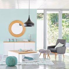 Maisons du Monde - ton bleu / vert pastel, bois clair, blanc et gris