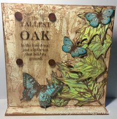 By Jane Royston MDF Art Board using Bee Crafty hand drawn leaves stamps