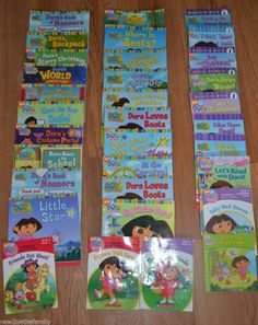 Dora the Explorer HUGE lot of 33 Children's Books, Early Reader, Picture Book