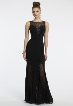Beaded Jersey Lace Dress from Camille La Vie and Group USA Fabulous Dresses, Cute Dresses, Beautiful Dresses, Formal Dresses, Long Dresses, Formal Wear, Extravagant Wedding Dresses, Wedding Dress Prices, Prom Dresses 2015