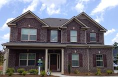 Brick - Everest gray Mortar - ga red Brick And Stone, Choices, Cabin, Mansions, Gray, House Styles, Nice, Home Decor, Decoration Home