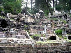 The Ave Maria Grotto in Cullman Alabama was created not by Brother Joseph Zoettel, a simple man, a monk in St. Bernard Abbey praying & keeping the furnaces supplied with coal to provide power. And somehow he found another kind of power within himself, the power of creativity, wonder & love. Over the years (1912-1958 from age 34 to age 80) Brother Joseph created 125 small stone and cement structures, some of the finest folk art in Alabama and the USA. The Abbey is also a prep school…