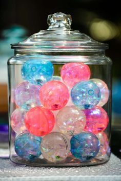Bubbles Birthday Party bouncy ball favors! See more party ideas at CatchMyParty.com!