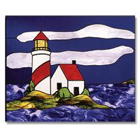 Free Pattern, Stormy Lighthouse