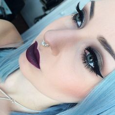 Smoked Purple @maccosmetics + Aqua lip 13C @makeupforeverofficial