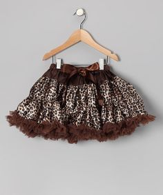 Take a look at this Chocolate Cheetah Pettiskirt - Infant, Toddler & Girls by Miss Fancy Pants on #zulily today!