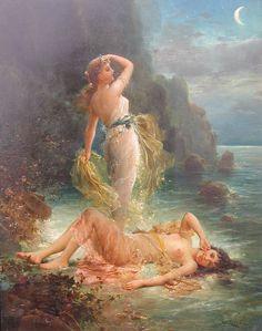 Hans Zatzka (1859-1945) - Water nymph
