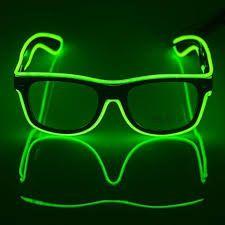 2019 8 Modes lunettes à LED illuminent les lunettes de soleil de lueur pour le verre de Vision de partie de boîte de nuit(#White)