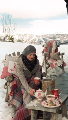 It's never too cold for tea time...I love tea..it's so therapeutic in every way!!!