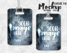Sublimation Rectangle Luggage Tag And Wrap Mockup Template