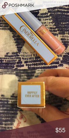 MAC Limited Edition SOLD OUT Cinderella lip gloss LIMITED EDITION MAC Cinderella lip gloss in 'Happily Ever After.' Brand new in box, never used! Beautiful sheer pink color. Make an offer  MAC Cosmetics Makeup Lip Balm & Gloss