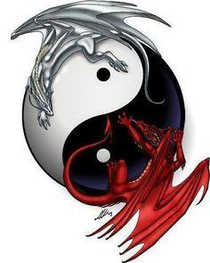 Dragon yin yang