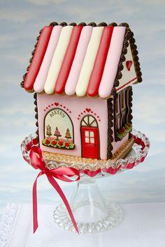 Gingerbread House tarro de las galletas galletas cortador
