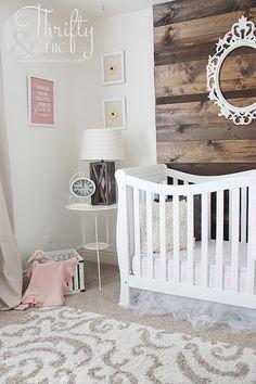 Girls nursery decor and decorating ideas. Perfect for a neutral nursery! Liapela.com
