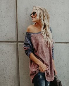 Casual Off Shoulder Sweater Fall Outfits 2018, Outfits For Teens, Winter Outfits, Casual Outfits, Cute Outfits, Fashion Outfits, Fashion Tips, Fashion Trends, Women's Casual