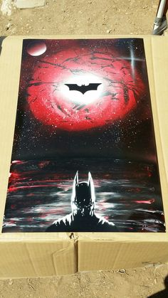Discover recipes, home ideas, style inspiration and other ideas to try. Spray Paint Artwork, Spray Paint Canvas, Spray Paint Stencils, Stencil Art, Spray Painting, Red Batman, Batman Art, Batman Painting, Spray Can Art