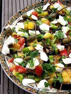 Ottolenghi's aubergine salad