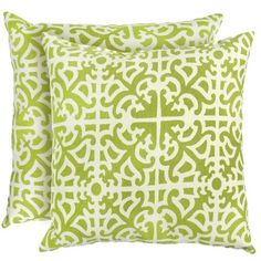 Greendale Home Fashions Indoor/Outdoor Accent Pillows, Grass, Set of 2 *** To view further for this item, visit the image link. Outdoor Cushions And Pillows, Patio Furniture Cushions, Outdoor Pillow, Outdoor Furniture, Outdoor Fabric, Chaise Cushions, Green Pillows, Furniture Ideas, Indoor Outdoor