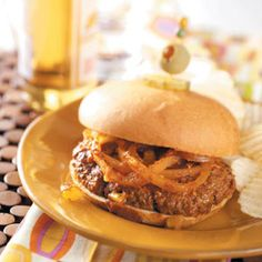 Meat Loaf Burgers Recipe from Taste of Home -- shared by Peggy Burdick, Burlington, Michigan