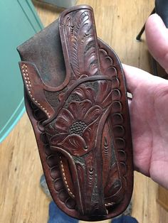Antique Tooled Gun Holster  Maker: George Laurence  Great