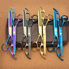 2Pcs 6'' 17.5cm Japan Kasho Professional Hair Scissors Hairdressing Cutting Shears + Thinning Scissors Hair Styling Tools H1005