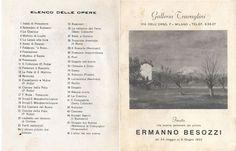 1952 Catalogo mostra galleria Travaglino, Milano
