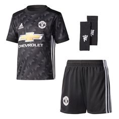 77fd19750 The adidas Manchester United Kids Away Mini Kit takes its inspiration from  the iconic season shirt with a modern makeover with added technical updates  for ...