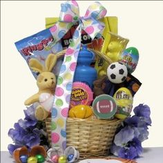 Cute easter gift basket for a boy age 6 9 37 happy holidays cute easter gift basket for a boy age 6 9 37 happy holidaysbirthdays pinterest boys baskets and sports negle Images