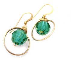 Emerald circle earrings by Desideri design
