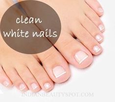 Mix 1 tbsp of hydrogen peroxide with 2tbsp of baking soda to create a paste. Use a cotton swab to apply the mixture to the nails and underneath the nails. Leave it on for 2-3 mins and rinse off with warm water. Baking soda will naturally exfoliate the nails while the hydrogen peroxide will brighten and whiten them.