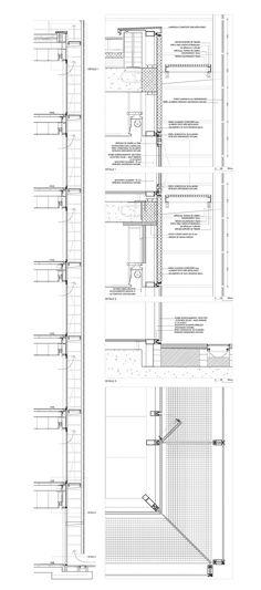 Mejores 38 im genes de detalles constructivos fachada y for Oficinas sabadell sevilla