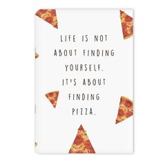 A notebook to fill with an ode to your favorite food. | 27 Products For People Who Are Completely Obsessed With Pizza