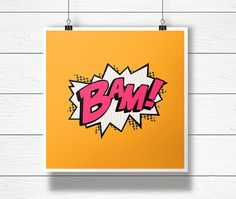 BAM Word Bubble Digital Comic Illustration by ComicsLand on Etsy