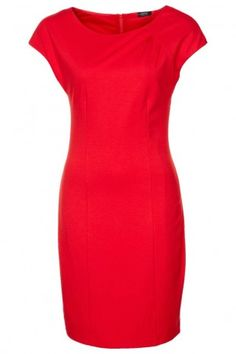 ESPRIT Collection Jerseykleid glowing red
